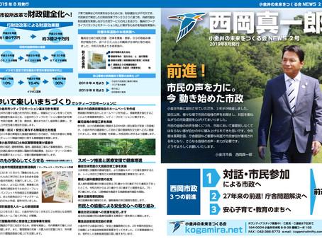 小金井の未来をつくる会NEWS 2号を発刊しました。