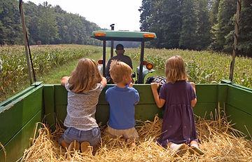 Семья на ферме