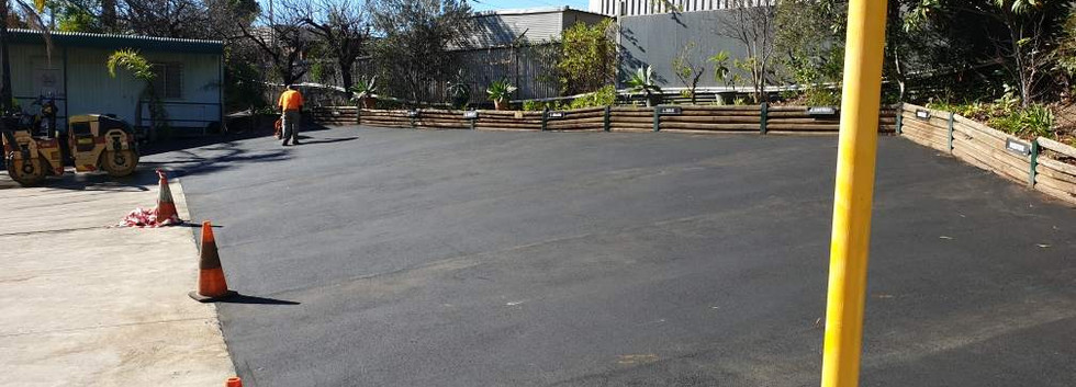Asphalt and bitument laying