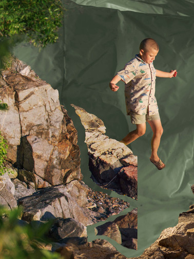 boy jumping collage