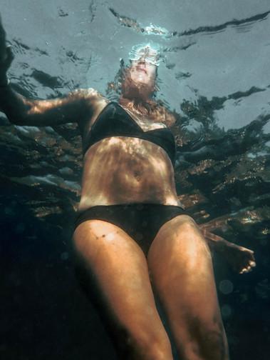 Figure Floating Seeing God