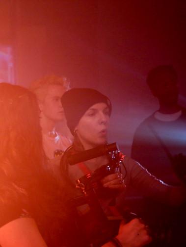 Polina directing on set of Underlined