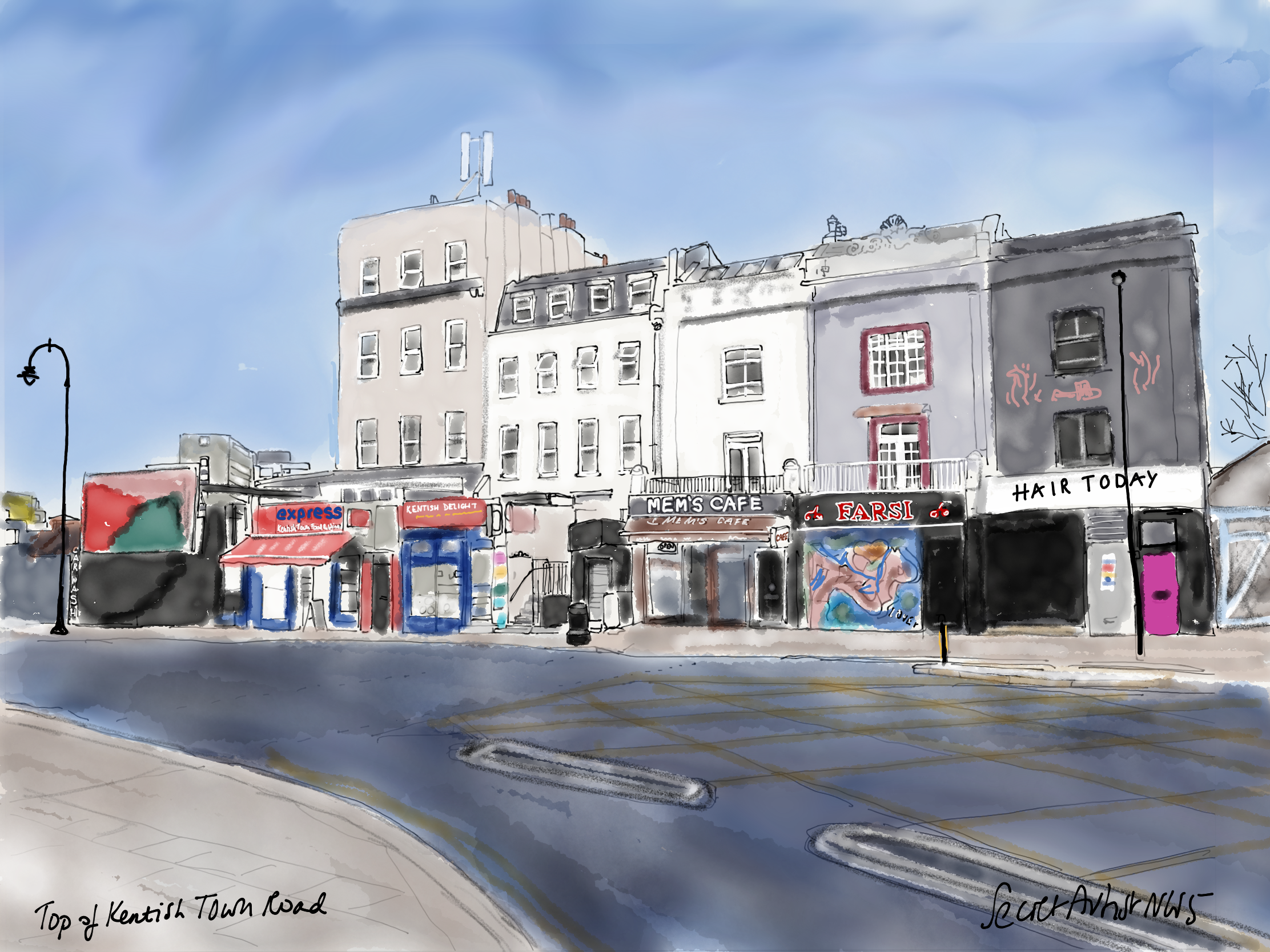 Top of Kentish Town Road 2021