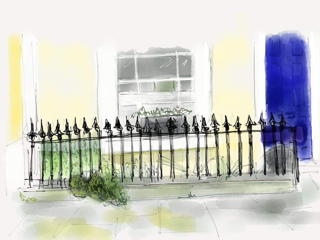 Railings, Leverton Street