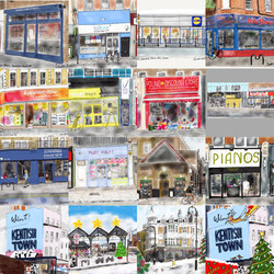 Kentish Town shops in Lockdown, Nov 2020.