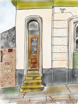 Door, Willingham Terrace, NW5
