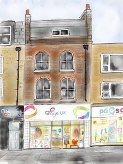 Age UK shop, Kentish Town Road