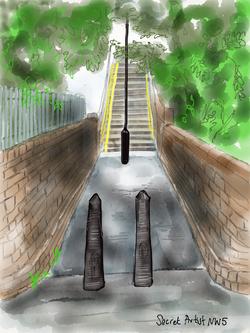 Footbridge by York Rise