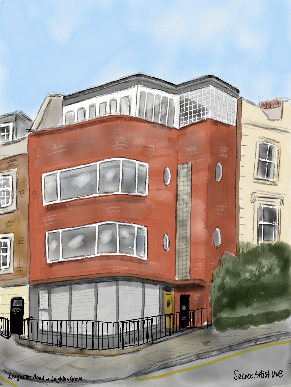 Modernist house, Leighton Road