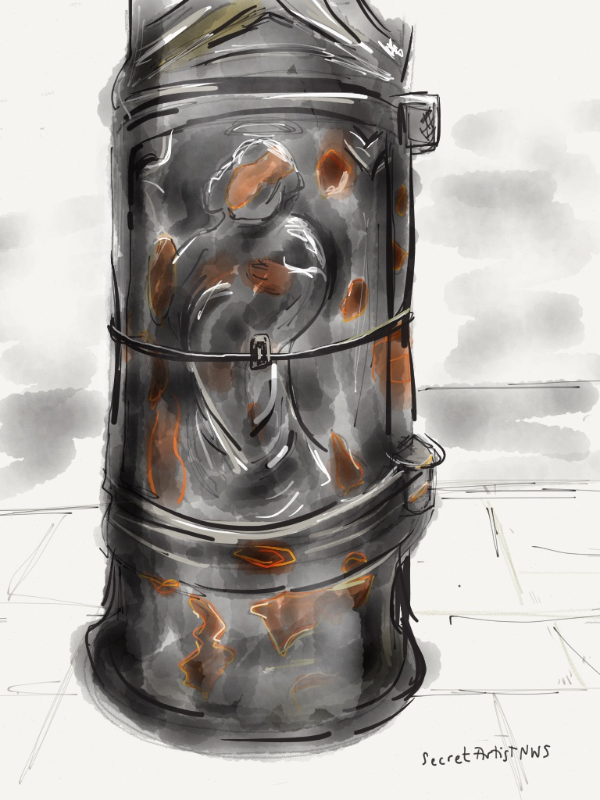 St Pancras on lamp post Inverness St