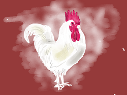 Rooster (red background)