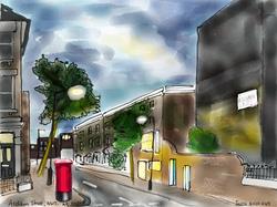 Ascham Street at night