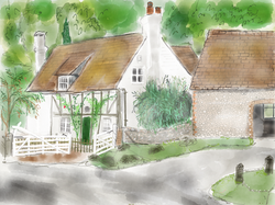 Ladywell Cottage,  summer