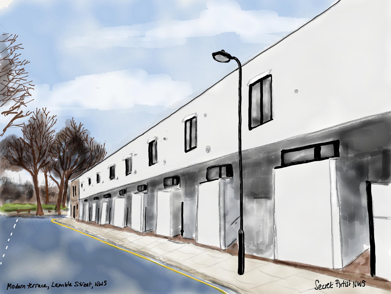 Lamble Street houses