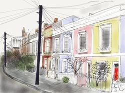 Leverton street telephone wires