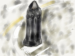 Gothic bollard, Anglers Lane