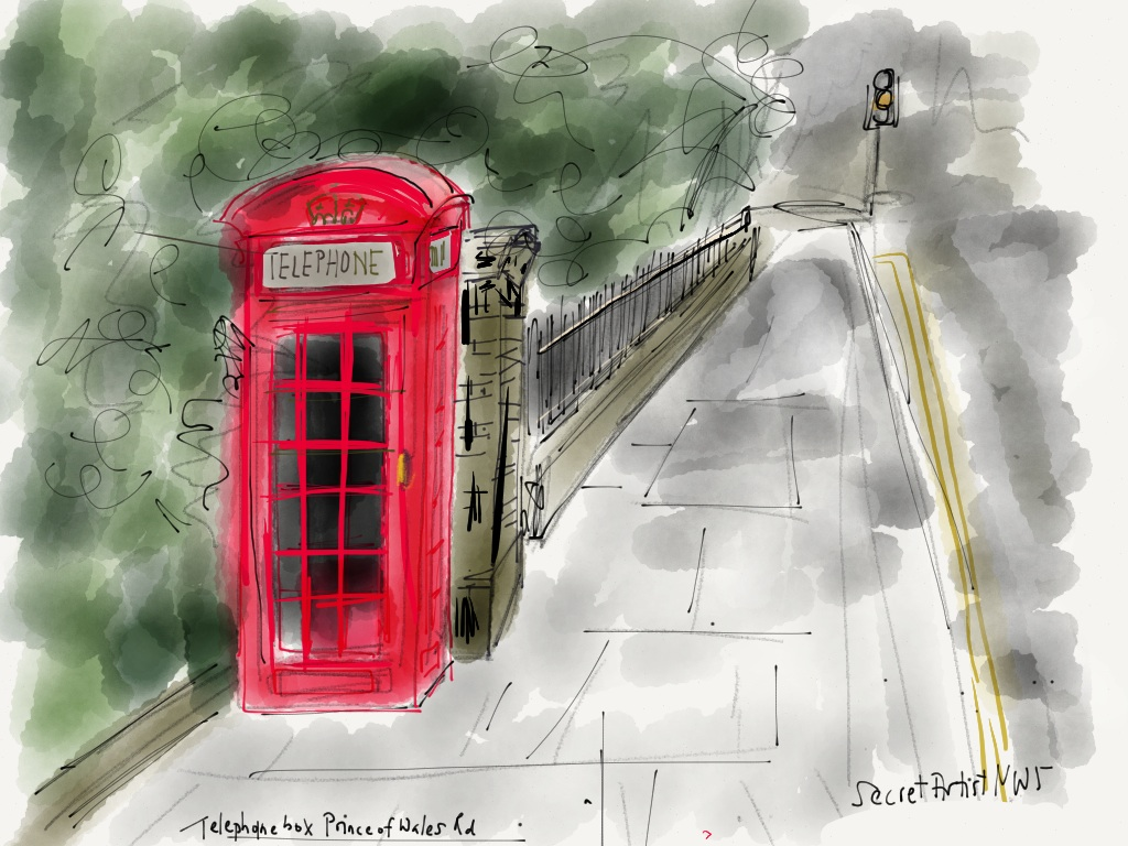 Telephone box P of Wales Rd