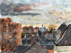 Dusk over Kentish Town
