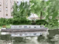 Old grey barge