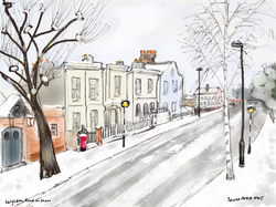 Leighton Road in snow