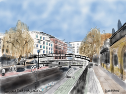 Regent's Canal, Camden Lock, Hampstead Road Lock