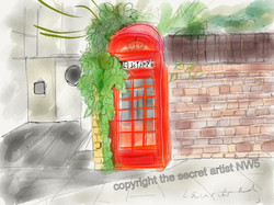 Telephone box, Laurier Road
