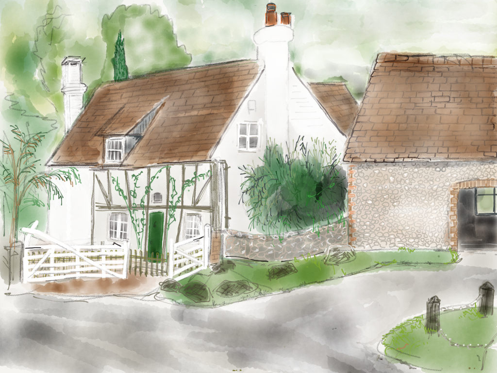 Ladywell Cottage in fog
