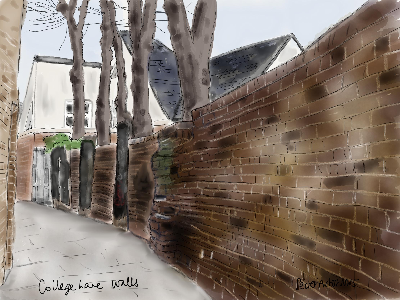 Collge Lane walls