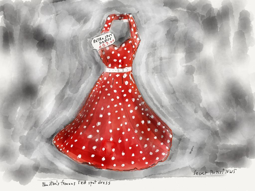 Bluston's spotty dress