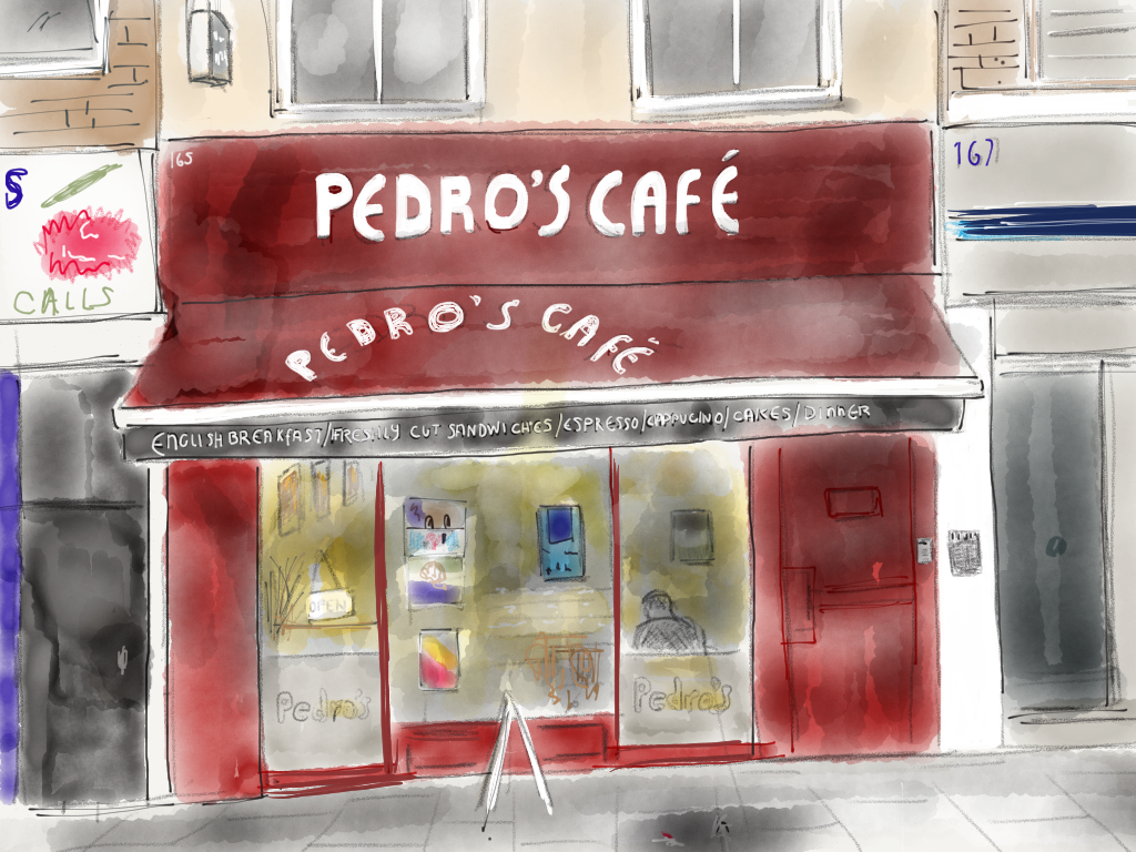 Pedro's Cafe old sign