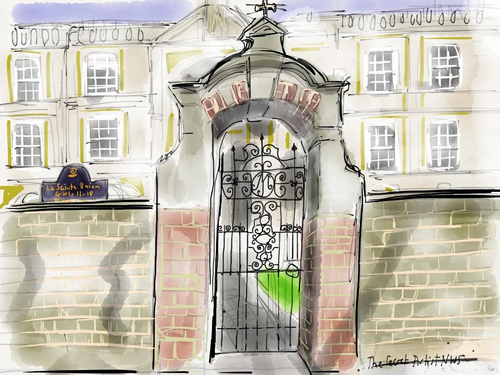 Gate & arch at La Sainte Union