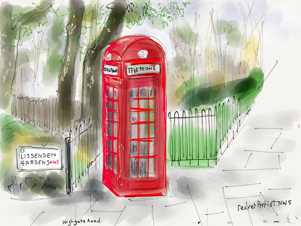 Telephone box, Highgate Rd