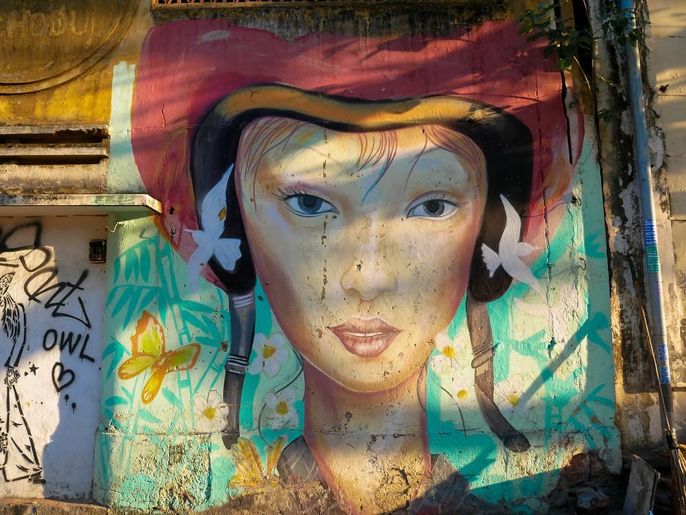 Graffiti in Saigon, Vietnam