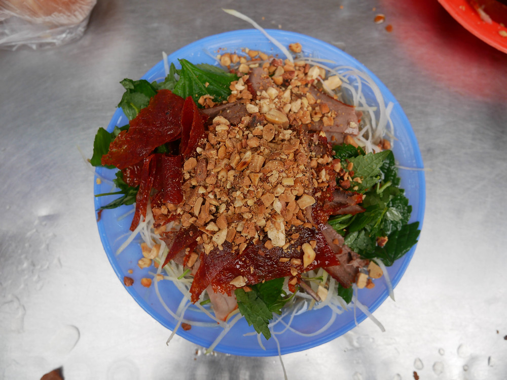 Dried Beef Salad in Hanoi