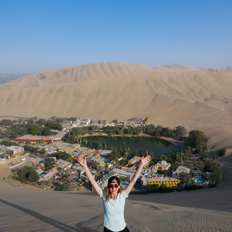 Huacachina, Peru- Climbing up & falling down sand dunes in the world's driest desert