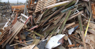 grade B waste wood