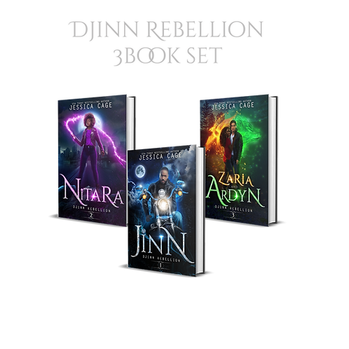 Djinn Rebellion books 1-3 - signed set