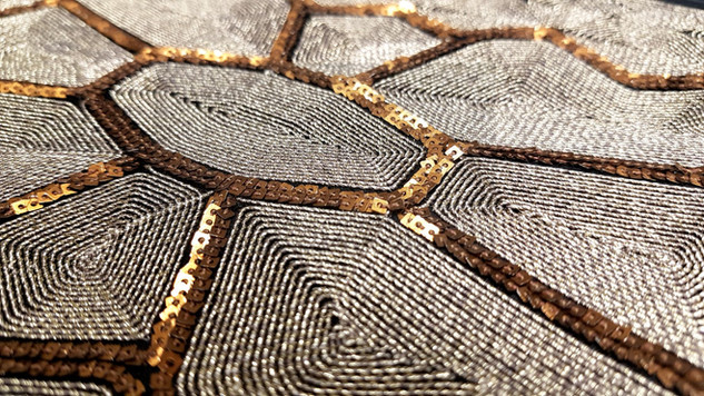 Coiling and sequins