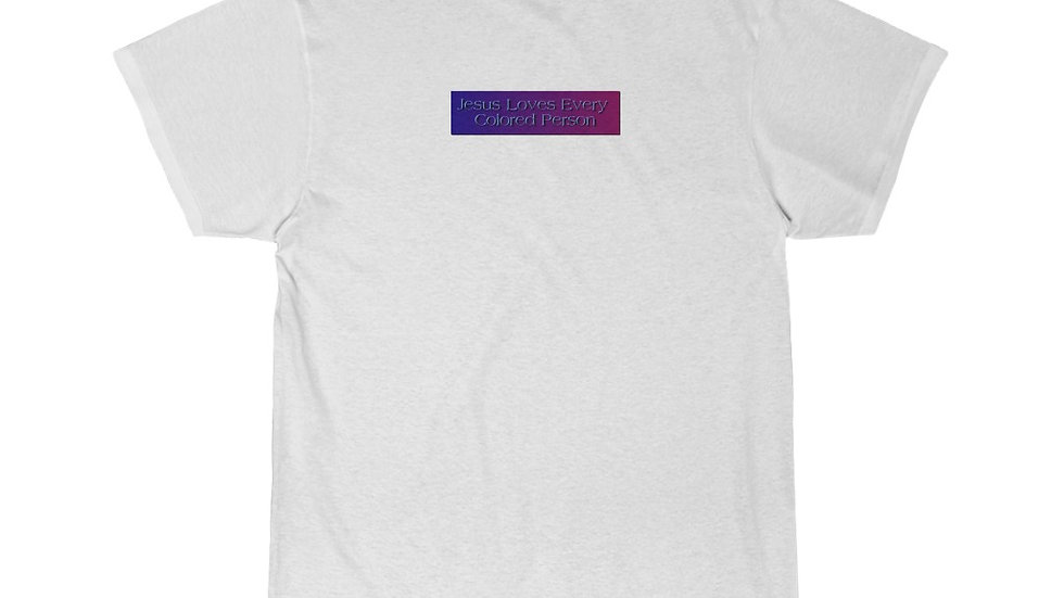 Jesus loves every colored person Men's Short Sleeve Tee