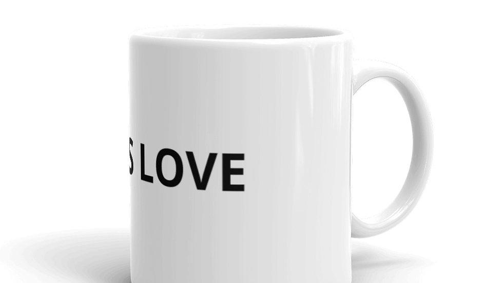 GOD IS LOVE White glossy mug