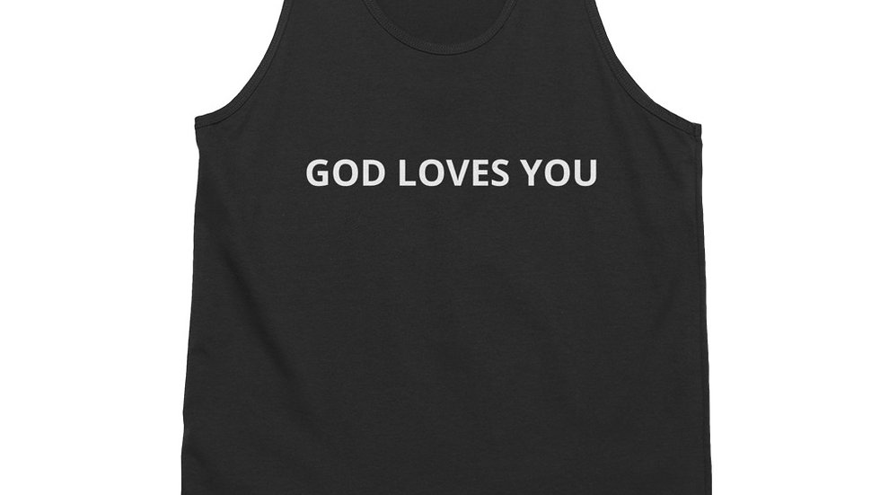 GOD LOVES YOU Classic tank top (unisex)