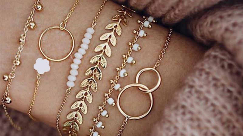 Tocona Bohemian Gold Tassel Bracelets for Women