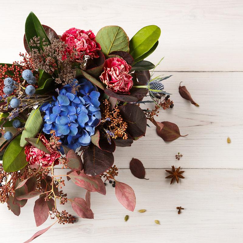Beautiful autumn bouquet composition of
