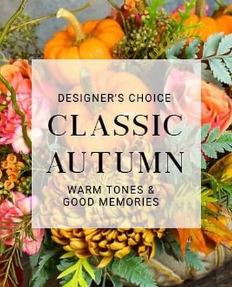 Custom Design -Classic Autumn Arrangement
