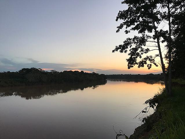 Las Piedras River at sunset