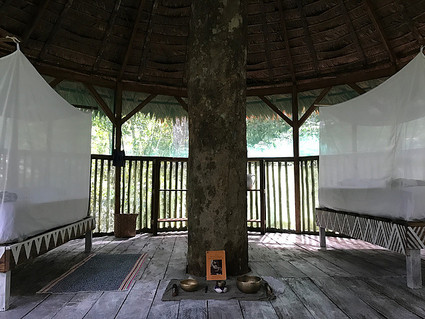 Treehouse Interior, handpainted beds