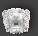 Têtes de lion à restaurer