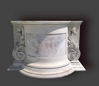 Restauration d'un socle en marbre