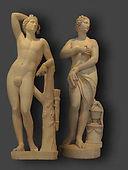 restauration de deux sculptures en marbre