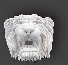 Tête de lion à restaurer